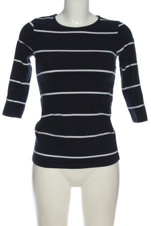 Reserved Longsleeve schwarz-weiß Streifenmuster Casual-Look