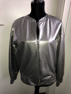 Reserved Bomber Jacket silver-colored