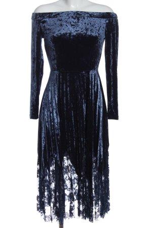 Reserved Midikleid blau Elegant
