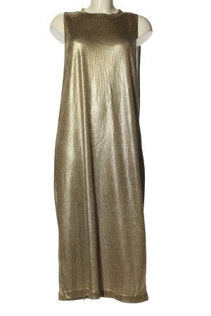 Reserved Midikleid goldfarben extravaganter Stil