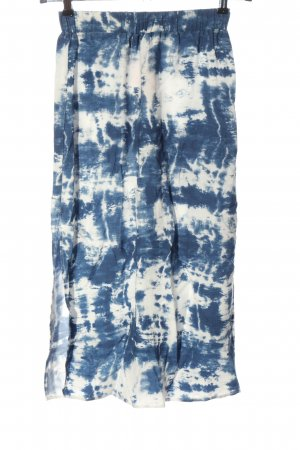 Reserved Midirock weiß-blau Farbverlauf Casual-Look