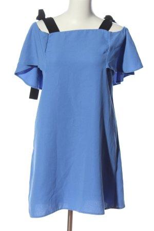 Reserved Minikleid blau-schwarz Casual-Look