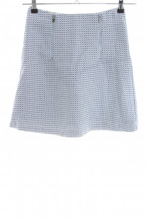 Reserved Mini rok blauw-wit volledige print casual uitstraling