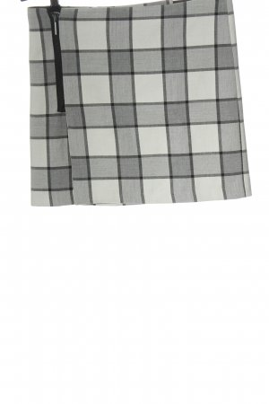 Reserved Mini rok lichtgrijs-wit volledige print casual uitstraling