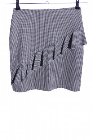 Reserved Minirock schwarz-weiß grafisches Muster Business-Look