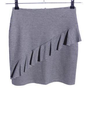 Reserved Mini rok zwart-wit grafisch patroon zakelijke stijl