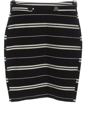 Reserved Mini rok zwart-wit gestreept patroon casual uitstraling