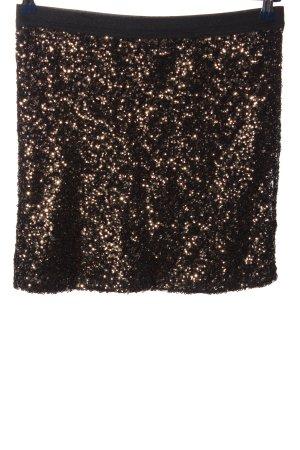 Reserved Mini rok zwart-goud extravagante stijl