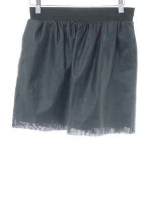 Reserved Minirock schwarz abstraktes Muster extravaganter Stil