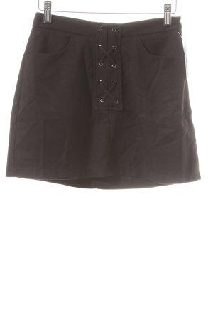 Reserved Mini rok zwart straat-mode uitstraling