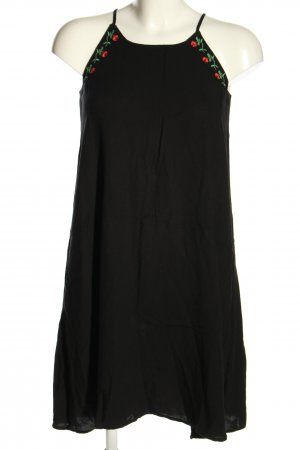 Reserved Halter Dress black flower pattern casual look