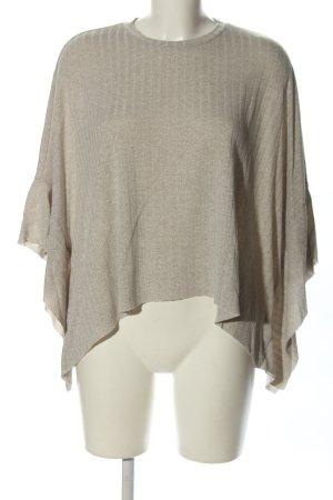 Reserved Oversized shirt lichtgrijs gestreept patroon casual uitstraling