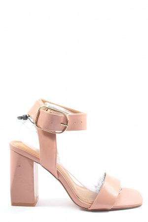 Reserved Sandały na grubym obcasie różowy W stylu casual