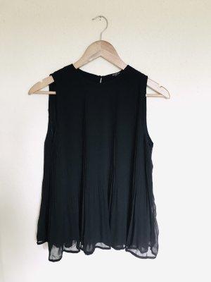 Reserved Plissee Top Bluse schwarz Gr. 36