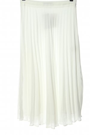 Reserved Pleated Skirt white casual look