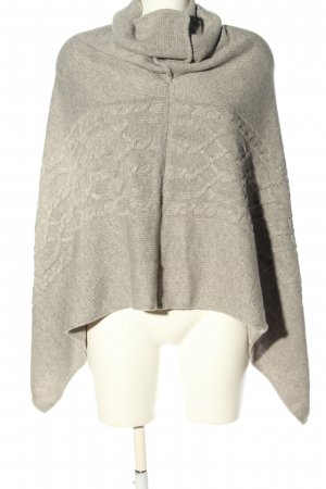 Reserved Poncho hellgrau Zopfmuster Casual-Look