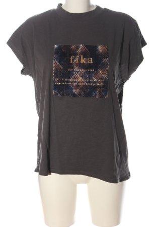Reserved Print-Shirt hellgrau Schriftzug gedruckt Casual-Look