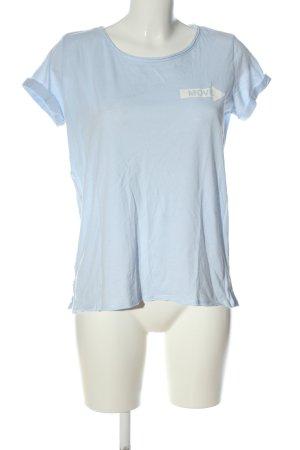 Reserved Print-Shirt blau-weiß Motivdruck Casual-Look