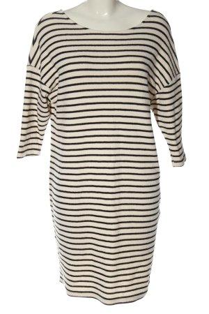 Reserved Pulloverkleid wollweiß-schwarz Streifenmuster Casual-Look