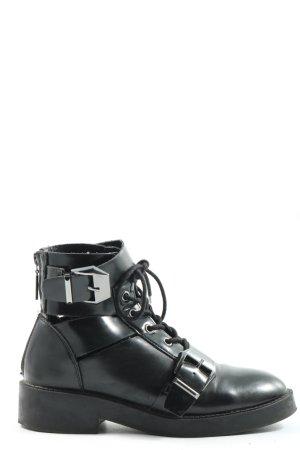 Reserved Reißverschluss-Stiefeletten schwarz Casual-Look