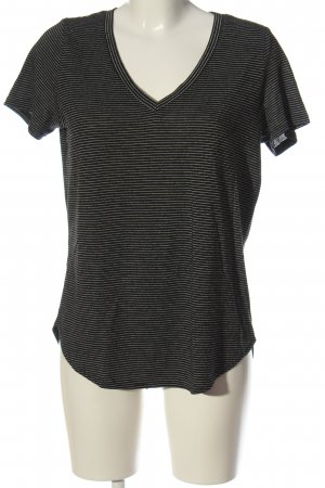 Reserved Ringelshirt schwarz-weiß Streifenmuster Casual-Look
