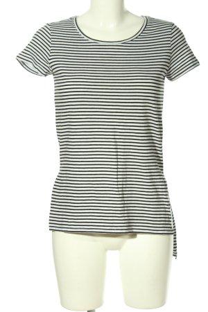 Reserved Ringelshirt weiß-schwarz Streifenmuster Casual-Look