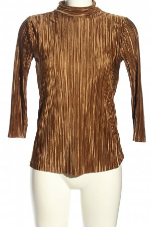Reserved Turtleneck Shirt brown-gold-colored striped pattern casual look