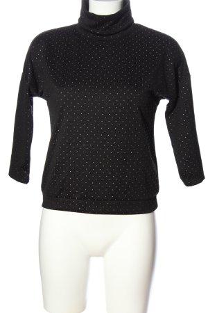 Reserved Rollkragenshirt schwarz-weiß Punktemuster Casual-Look