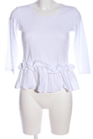 Reserved Rüschen-Bluse weiß Casual-Look