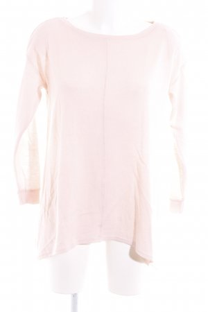 Reserved Rundhalspullover rosa Casual-Look