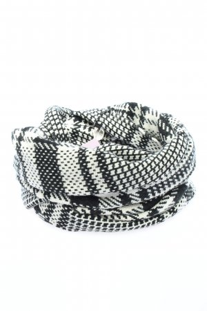 Reserved Snood black-white check pattern casual look