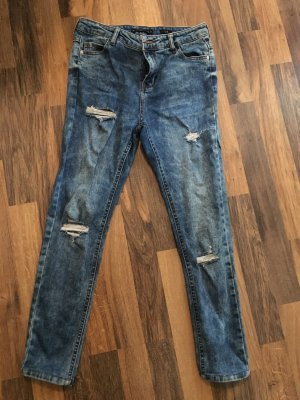 Reserved Low Rise Jeans steel blue cotton
