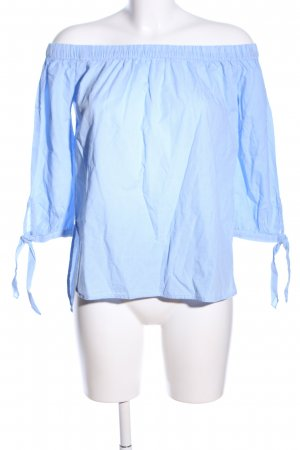 Reserved Schlupf-Bluse blau-weiß Karomuster Casual-Look