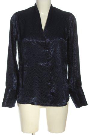 Reserved Schlupf-Bluse blau Allover-Druck Casual-Look