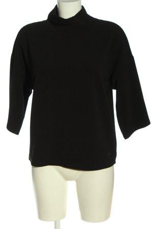 Reserved Schlupf-Bluse schwarz Casual-Look
