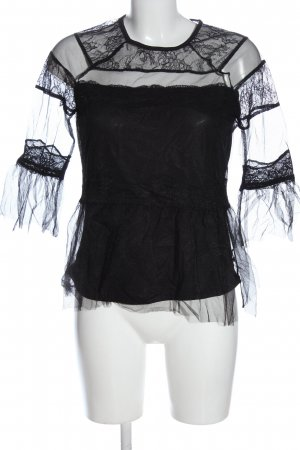 Reserved Schlupf-Bluse schwarz Elegant