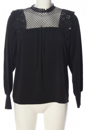 Reserved Schlupf-Bluse schwarz abstraktes Muster Casual-Look