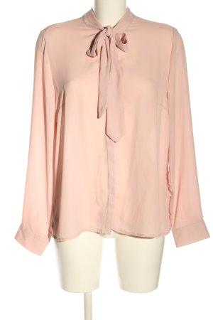 Reserved Blusa collo a cravatta rosa stile casual