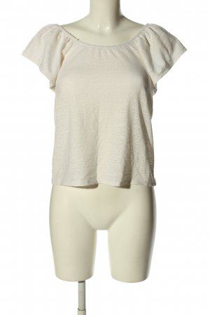 Reserved Off the shoulder top wolwit gestippeld casual uitstraling