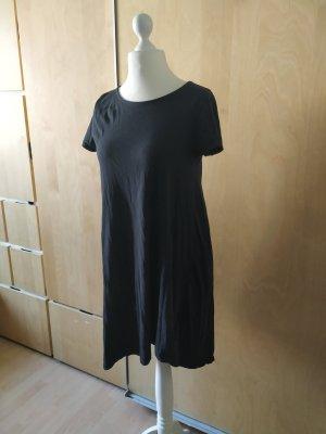 Reserved Shirt Kleid Skater Mini M schwarz asymmetrisch