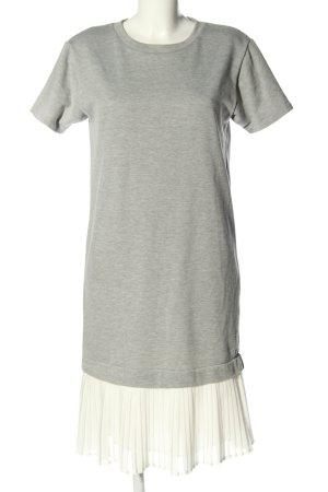 Reserved Shirtkleid hellgrau-weiß meliert Casual-Look