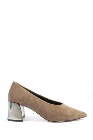 Reserved Spitz-Pumps braun Business-Look