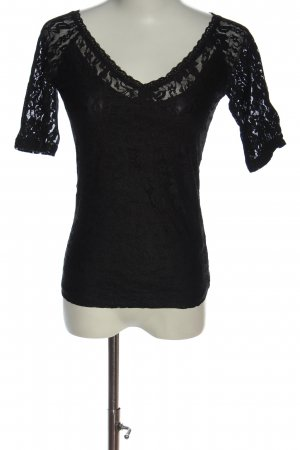 Reserved Lace Blouse black casual look