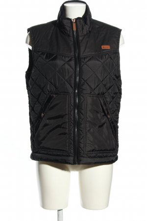 Reserved Steppweste schwarz Steppmuster Casual-Look