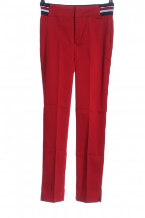 Reserved Stoffhose rot Streifenmuster Casual-Look