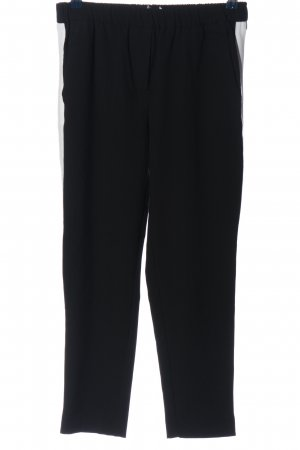 Reserved Stoffhose schwarz-weiß Casual-Look