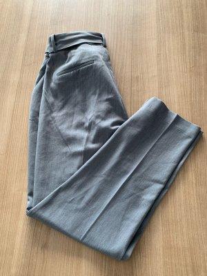 Reserved stoffhose mit bindegürtel grau