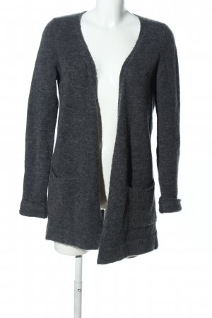 Reserved Strick Cardigan hellgrau meliert Casual-Look