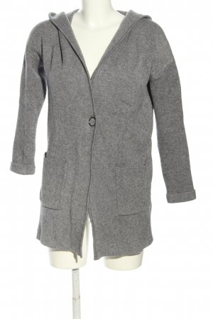 Reserved Knitted Coat light grey flecked casual look