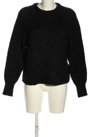 Reserved Strickpullover schwarz Casual-Look